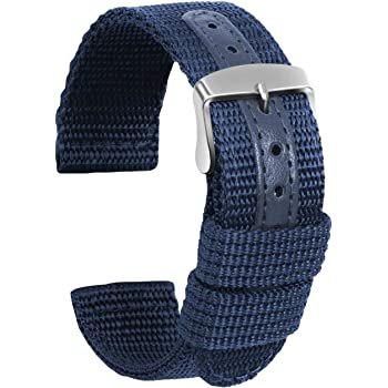 Ullchro Nylon Watch Strap Replacement Canvas Military Army Men Women - 18, 20, 22, 24mm