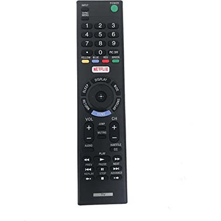 Black Wireless Mini Ultra Slim Keyboard and Mouse For Easy Smart TV Contol for Sony KDL-55W800A Smart TV