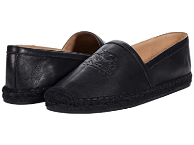 COACH Charlie Espadrille (Black Smooth Leather) Women