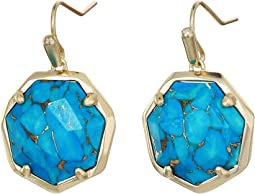 Gold/Bronze/Veined Turquoise
