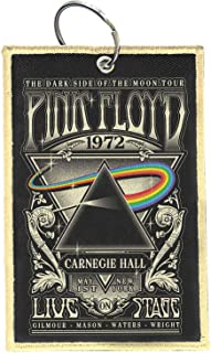 Pink Floyd Keyring keychain Patch Carnegie Hall Band Logo Official One Size