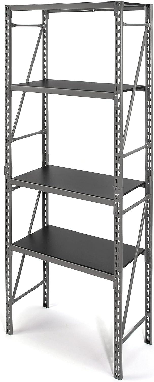 Rare Steelman 6.25-Foot Tall Narrow 4-Shelf Rack f Storage Adjustable Fresno Mall