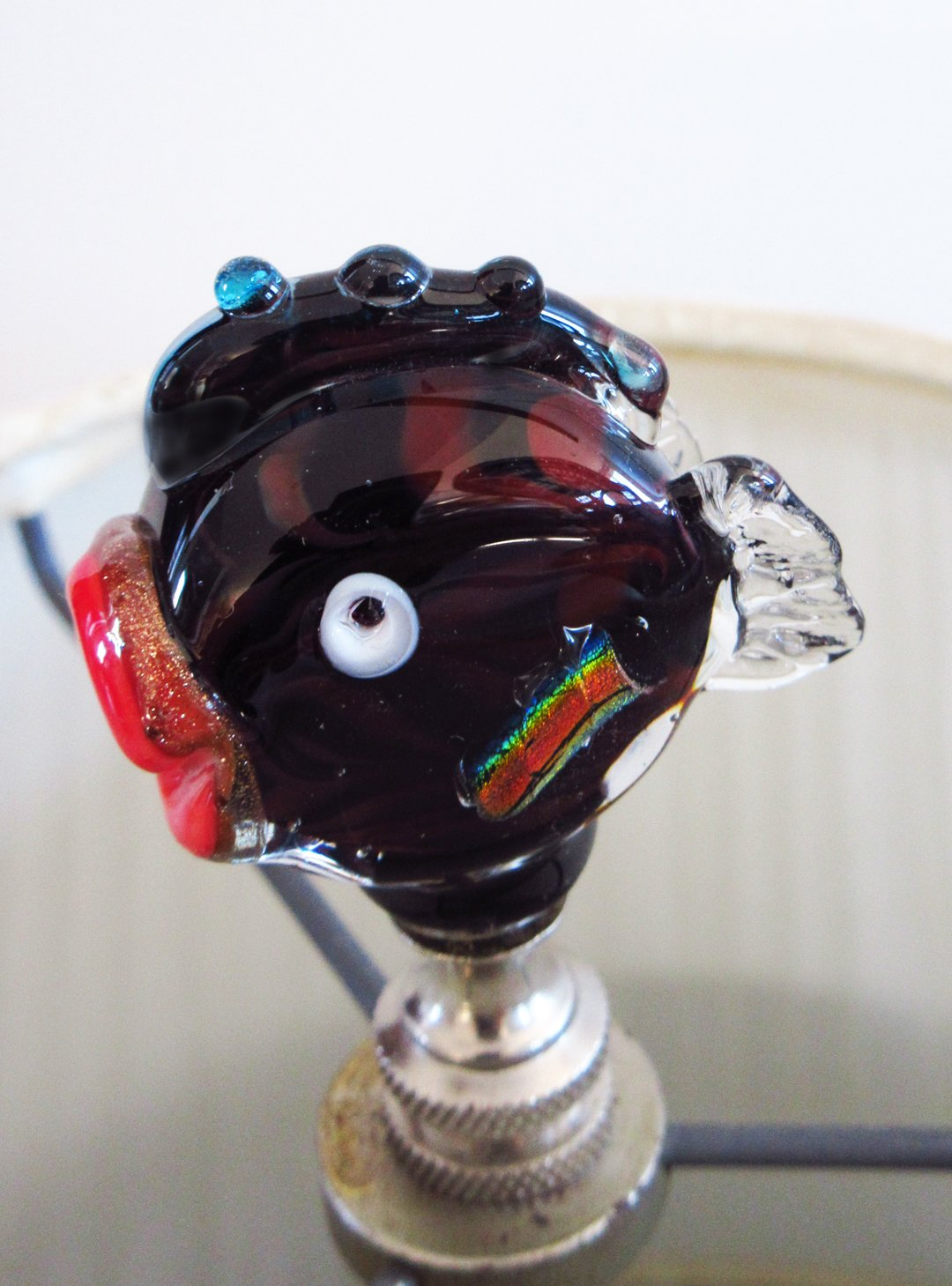 Virginia Beach Mall Finials Soldering - Handmade Venetian Glass Lamp Fi Darker Color