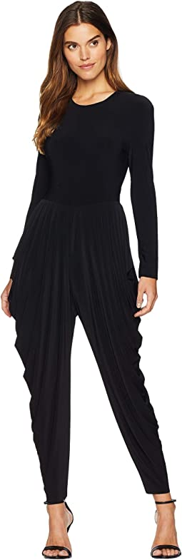 Long Sleeve Waterfall Jumpsuit