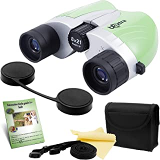 Binoculars for Kids 8x21 High Resolution | Compact Kids Binoculars for Bird Watching, Safari or Camo Hunting | Perfect for Girls, Boys or Adults | Great GlFT
