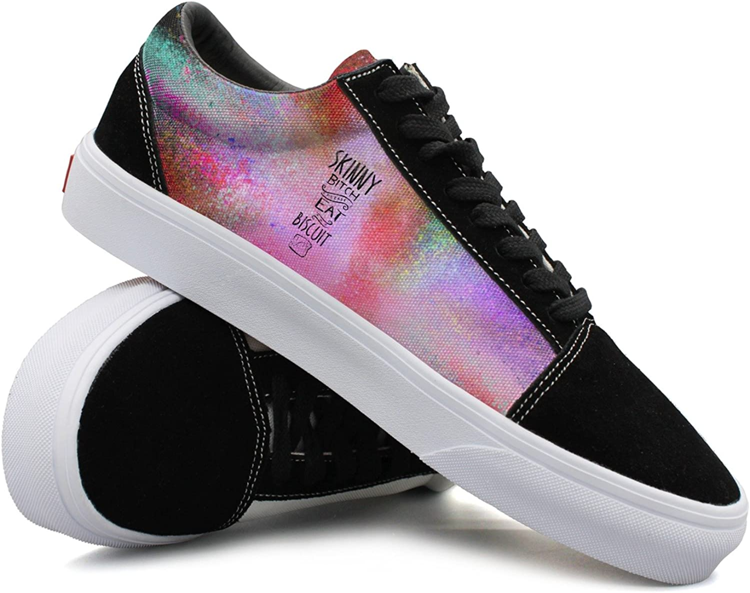 Womens Skinny Bitch Please Eat A Biscuit Funny Canvas shoes Women