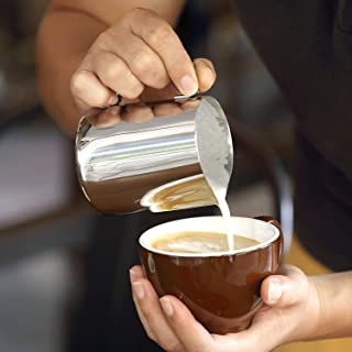 Littlesun Milk Frothing Pitcher Cappuccino Pitcher Pouring Jug Espresso Cup Stainless Steel Creamer Cup for Latte Art (350ml)