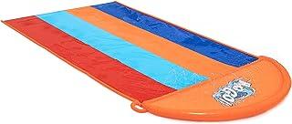 Bestway BW52323 H20GO, Pista Deslizante De Cuatro Calle, 5,5 m inflable desplazamiento y deslizamiento con rociadores incorporados, multicolor
