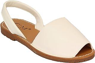 bde810e5c5a23f femmes sandales menorcan femmes à enfiler plat bout ouvert fermeture  arrière tongs plage