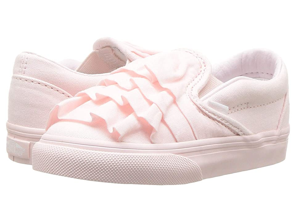 Vans Kids Classic Slip-On (Infant/Toddler) ((Ruffle) Heavenly Pink) Girls Shoes