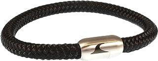 WAVEPIRATE Segeltau-Armband Sylt ST Schwarz/SI Männer Herren