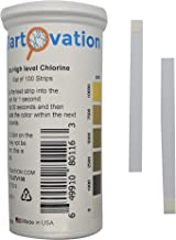 Extra High-Level Chlorine Test Strips, 0-10,000 ppm [Vial of 100 Strips]
