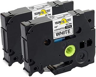Nero su Bianco Fimax 3x TZe Tape 9mm TZe-221 TZe221 Nastri Etichette Laminato Compatibile per Brother P-Touch PT-H100LB PT-H100R PT-1005 PT-1010 PT-H107 Etichettatrice