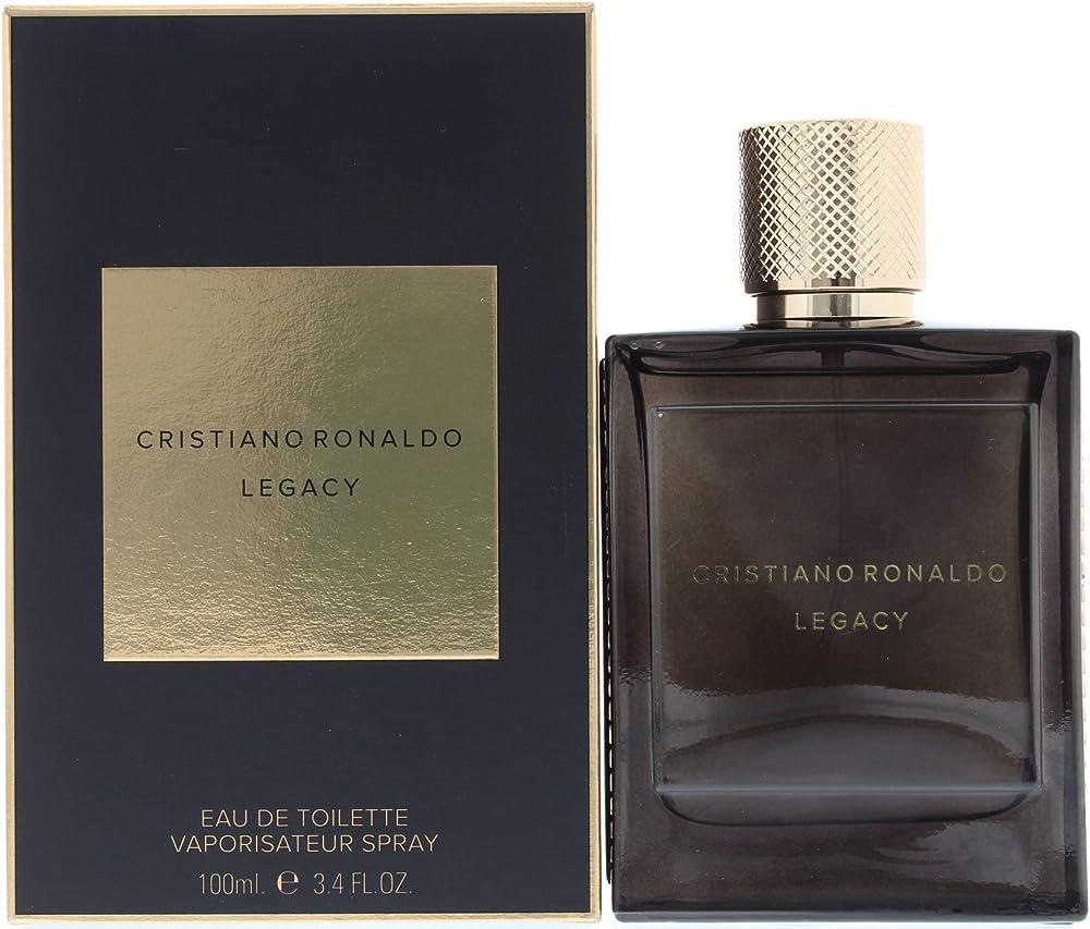 Cristiano ronaldo legacy, eau de toilette da uomo,vaporizzatore o spray, da 100 ml 10004520