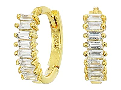 SHASHI Teagan Huggie Earrings (Gold/Clear) Earring