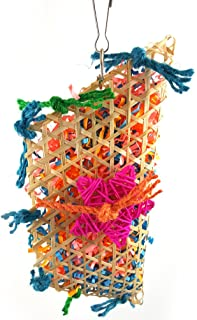 colorato in legno durevole corda di cotone appeso blocchi string morso grande medio e piccolo animale domestico stand cremagliera gioca giocattolo pappagallo forniture Uccello giocattolo da masticare Giochi d'imitazione Forniture per l'istruzione