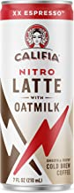 Califia Farms XX Espresso Oatmilk Nitro Draft Latte Cold Brew Coffee, 7 Oz (12 Cans) | Dairy Free | Gluten Free | On-the-Go | Clean Energy | Plant Based | Non-GMO
