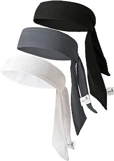 VANCROWN Head Tie Tennis Tie Hairband 3PCS & 6PCS Sweatbands Headbands Wristbands Head Wrap