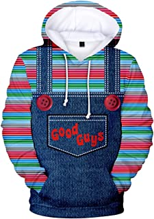 Yagao Good Guys Chucky 3D Print Hooded Hoodies for Men and Women Baseball Sweatshirts Pullover