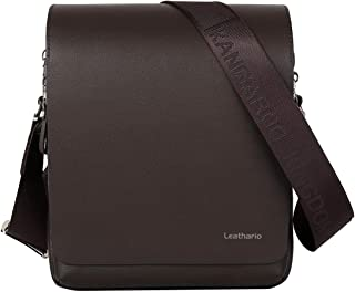 PU Shoulder Bag Men's Messenger Bag Crossbody Bag Satchel Bag Ipad Bag 11 inch Brown