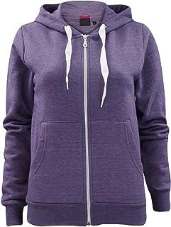 dcfe45926035 Made by PURL® Womens Ladies Plain Hoodie Zip Zipper Pockets Long Sleeve Hooded  Top Hoody