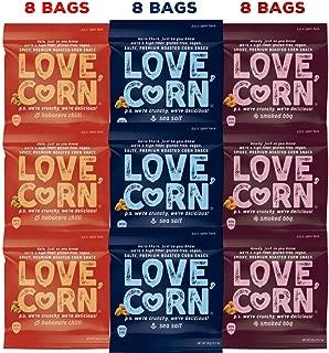 LOVE CORN Crunchy Corn Variety Pack 0.7oz x 24 Bags