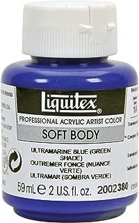 Liquitex 2002380 Professional Soft Body Acrylic Paint 2-oz jar, Ultramarine Blue (Green Shade)