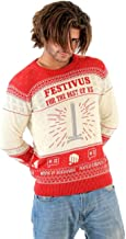Seinfeld Festivus for The Rest of Us Pole Adult Cream Ugly Christmas Sweater