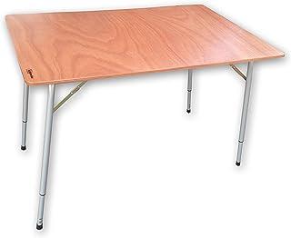 Castelmerlino 174 Table rallonge de Table en contreplaqué Marin 120 x 80 cm, Pieds télescopiques 65 – 87 cm