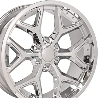 OE Wheels 22 Inch Fits Chevy Silverado Tahoe GMC Sierra Yukon Cadillac Escalade CV98 Chrome w/Chrome 22x9.5 Deep Dish Rim Hollander 5668