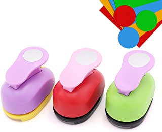 3 Pcs 1-Inch Circle Punch Paper Punches Scrapbook Crafts Paper Punch