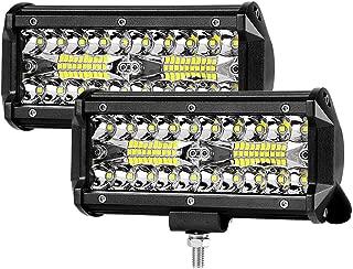 7 inch Led Light Bar Winhoi 2Pcs 240W 24000lm Driving Lights LED Work Light Combo Light Off Road lights LED Spotlight IP68 Waterproof Super Bright for UTV ATV Jeep Truck Boat, 2 Year Warranty