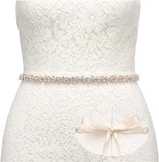 Bridal Belt with Rhinestones Wedding Dress Belt Crystal Headband Bride Bridesmaids Sash, Silver