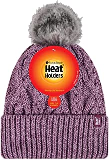 Heat Holders Warm Winter Thermal Solna Pom Pom Beanie Hat