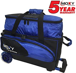 Moxy Bowling Products Blade Premium Double Roller Bowling Bag- Royal/Black
