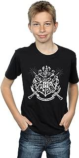 HARRY POTTER Boys Hogwarts Badge Wands T-Shirt
