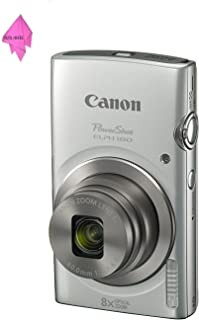 Canon PowerShot ELPH 180 (Silver) with 20.0 MP CCD Sensor and 8x Optical Zoom PLUS CLEANING CLOTH