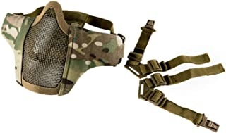 """OneTigris 6"""" Foldable Half Face Mesh Mask Military Style Comfortable Adjustable Tactical Lower Face Protective Mask"""