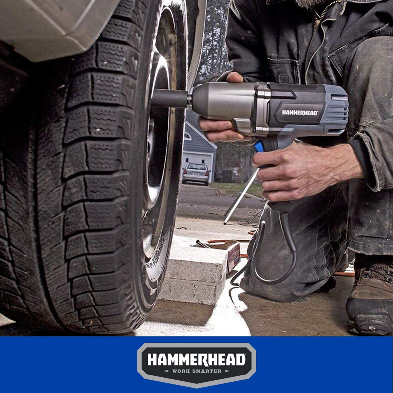 Hammerhead HDIW075 Impact Wrench for Tire Lug Nuts