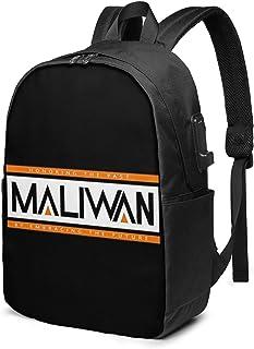 Maliwan - Mochila de 17 Pulgadas para computadora portátil con Puerto de Carga para Auriculares USB Bookbag