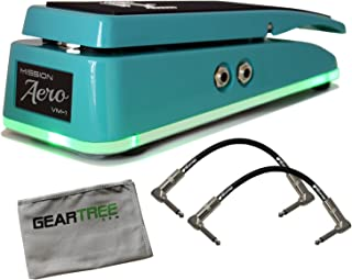 Mission Engineering VM1-SG-AERO Sea Green Analogue Volume Pedal w/ 2 Cables and