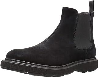Emporio Armani Men's Casual Chelsea Boot Construction Shoe, Black, 6 Regular UK (7 US)