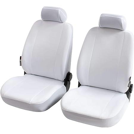 Esituro Scsc0005 2 2er Einzelsitzbezug Universal Sitzbezüge Für Auto Schonbezug Schoner Aus Kunstleder Creme Auto