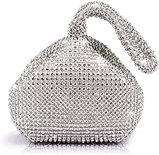 Mogor Women's Triangle Bling Glitter Purse Crown Box Clutch Evening Luxury Bags Party Prom