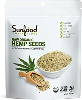 Sunfood Superfoods Shelled Hemp Seeds. Raw, Organic, Non-GMO. Bulk Value. Rich in Protein, Amino Acids, Healthy Plant Fats...