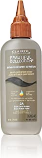 Clairol Beautiful Collection Advanced Gray Solution Hair Color, 3 fl oz -Rich Dark Brown