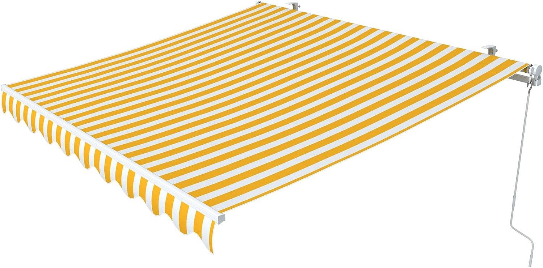 Paramondo Gelenkarmmarkise Easy, 2,95 x 2 m, Stoff  Block, gelb-wei