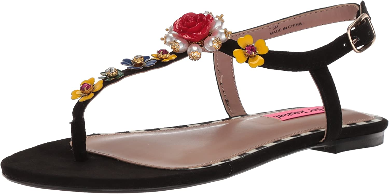 Betsey Johnson Womens Nori Flat Sandal