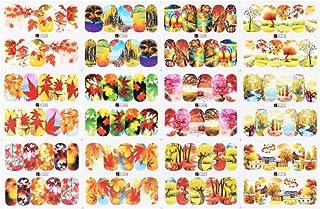 Beaupretty Herbstlaub Nail Art, 9 Blatt Thanksgiving Nail Ta
