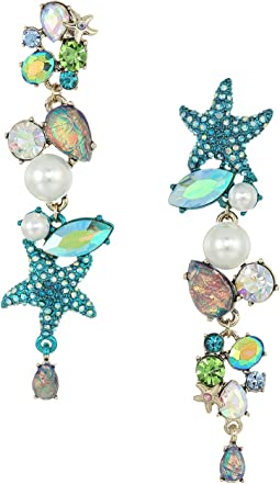Betsey Johnson - Seashell and Stone Mismatch Earrings